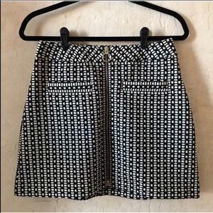 NWOT Express High Waisted A-Line Skirt with zip